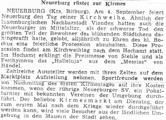 Neuerburg rüstet zur Kirmes