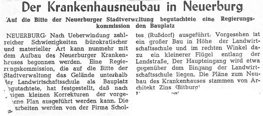 Der Krankenhausneubau in Neuerburg