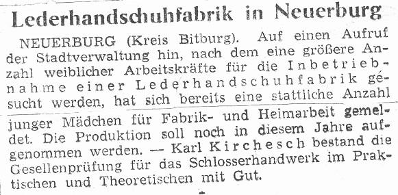 Lederhandschuhfahrik in Neuerburg