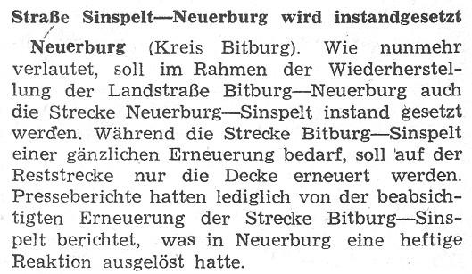 Straße Sinspelt-Neuerburg wird instandgesetzt