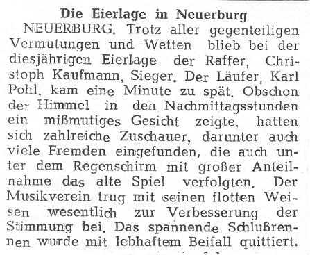 Die Eierlage in Neuerburg